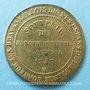 Coins Révolution de 1848, Fraternisation des gardes nationales, médaille cuivre jaune. 24 mm