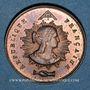 Coins Révolution de 1848. Fraternisation des gardes nationales. Médaille cuivre rouge. 24 mm