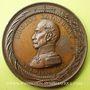Coins Révolution de 1848. Le général Cavaignac. Médaille bronze 44 mm. Très rare en bronze !