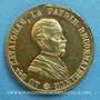 Coins Révolution de 1848. Le général Cavaignac. Médaille cuivre jaune. 24,2 mm