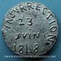 Coins Révolution de 1848. Le général Cavaignac. Médaille plomb. 24 mm