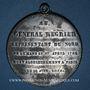 Coins Révolution de 1848. Lille. Statue du général Négrier. Médaille étain. 48 mm