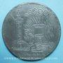 Coins Révolution de 1848. Lutte. Chute de la Royauté. Médaille plomb. 72 mm