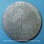 Coins Révolution de 1848. Médailles politiques. Médaille plomb. 47 mm