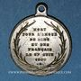 Coins Révolution de 1848. Mort Mgr Affre, archevêque. Médaille cuivre argenté. 23 mm