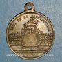 Coins Révolution de 1848. Promulgation de la Constitution. Médaille cuivre jaune. 23,4 mm