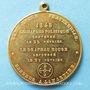 Coins Révolution de 1848. Rejet du drapeau rouge. Médaille cuivre jaune. 37,2 mm