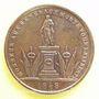 Coins Révolution de 1848. Représentants et Généraux tués et blessés. Général Bréa. Médaille cuivre 23,7 mm