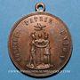 Coins Révolution de 1848. Série parisienne de 1849. Médaille cuivre. 31,7 mm