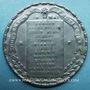 Coins Révolution de 1848. Violation de l'Assemblée par l'émeute. Médaille cuivre blanchi. 27 mm