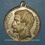 Coins Révolution de 1848. Vote du Plébiscite 1851. Médaille cuivre blanchi. 35 mm