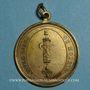 Coins Révolution. Insigne uniface vivre libre ou mourir. 1792. Cuivre jaune avec bélière et anneau