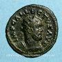 Coins Allectus (293-296). Antoninien. Colchester, 294-296. R/: galère