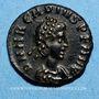 Coins Arcadius (383-408). 1/2 centénionalis. Cyzique. 3e officine, 388-395. R/: Victoire