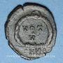 Coins Arcadius (383-408). 1/2 centénionalis. Nicomédie, 1ère officine, 383-384. R/: VOT / V