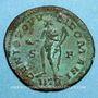 Coins Constance I Chlore, césar (293-305). Follis. Trèves, 2e officine, 302-303. R/: Génie