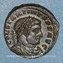 Coins Constantin I (307-337). Follis. Trèves, 2e officine. 317. R/: le Soleil