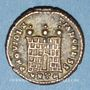 Coins Constantin II, césar (317-337). Centenionalis. Héraclée, 5e officine, 317. R/: porte de camp