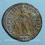 Coins Dioclétien (284-305). Follis. Ticinum, 1ère officine, 300-303. R/: la Monnaie