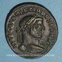 Coins Dioclétien (284-305). Follis. Ticinum, 294-295. R/: Génie