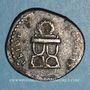 Coins Domitien (81-96). Denier. Rome, 82. R/: chaise curule