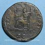 Coins Domitien (81-96). Sesterce. Rome, 90-91. R/: Jupiter