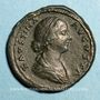 Coins Faustine jeune, épouse de Marc Aurèle († 175). Sesterce. Rome, 161-175. R/: Junon