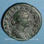 Coins Faustine jeune, épouse de Marc Aurèle († 175). Sesterce. Rome, 161-175. R/: la Santé