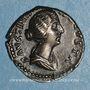 Coins Faustine jeune, épouse de Marc Aurèle (175). Denier. Rome, 157-161. R/: la Concorde