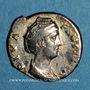 Coins Faustine mère, épouse d'Antonin le Pieux († 141). Denier. Rome, après 147. R/: Junon
