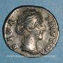 Coins Faustine mère, épouse d'Antonin le Pieux († 141). Denier. Rome, après 147. R/: L'Eternité
