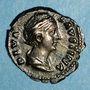 Coins Faustine mère, épouse d'Antonin le Pieux († 141). Denier. Rome, après 147. R/: Vesta