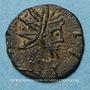 Coins Frappes barbares (vers 270-275). Antoninien. Buste radié de Tétricus I. R/: personnification
