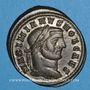 Coins Galère Maximien, césar (293-305). Follis. Ticinum, 2e officine.  298-299. R/ Génie