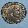 Coins Galère Maximien, césar (293-305). Follis. Ticinum, 3e officine.  300-303. R/: la Monnaie