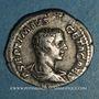 Coins Géta, césar sous Septime Sévère et Caracalla (198-209). Denier. Rome, 208. R/: Génie nu, debout à g.