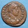 Coins Gratien (367-383). 1/2 centénionalis. Rome, 1ère officine, 378-383. R/: VOT / XIV /MVL(T) / XX