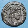 Coins Gratien (367-383). 1/2 centénionalis. Thessalonique, 378-383. R/: VOT / XV /MVLT / XX