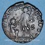 Coins Gratien (367-383). Maiorina. Lyon, 2e officine, 383. R/: R/: l'empereur
