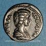 Coins Julia Domna, épouse de Septime Sévère († 217). Denier. Rome, 197. R/: Vesta