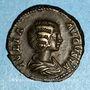Coins Julia Domna, épouse de Septime Sévère († 217). Denier. Rome, 202. R/: l'Allégresse