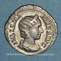 Coins Julia Mamée, mère d'Alexandre Sévère († 235). Denier. Rome, 228. R/: la Félicité