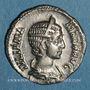 Coins Julia Mamée, mère d'Alexandre Sévère († 235). Denier. Rome, 232. R/: la Fécondité