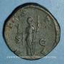 Coins Julia Mamée, mère d'Alexandre Sévère († 235). Sesterce. Rome, 226. R/: Vesta
