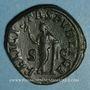Coins Julia Mamée, mère d'Alexandre Sévère († 235). Sesterce. Rome, 228. R/: la Félicité