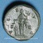 Coins Lucille, épouse de Lucius Vérus (+ 183). As. Rome, 164-166. R/: Vesta