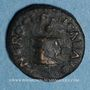 Coins Néron (54-68). Quadrans. Rome, 64. R/: rameau