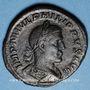 Coins Philippe I (244-249). Sesterce. Rome, 247. R/: la Joie. Inédit !