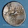 Coins République romaine. C. Vibius C. f. Pansa (vers 90 av. J-C). Denier