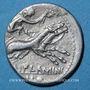 Coins République romaine. L. Flaminius Chilo (vers 109-108 av. J-C). Denier
